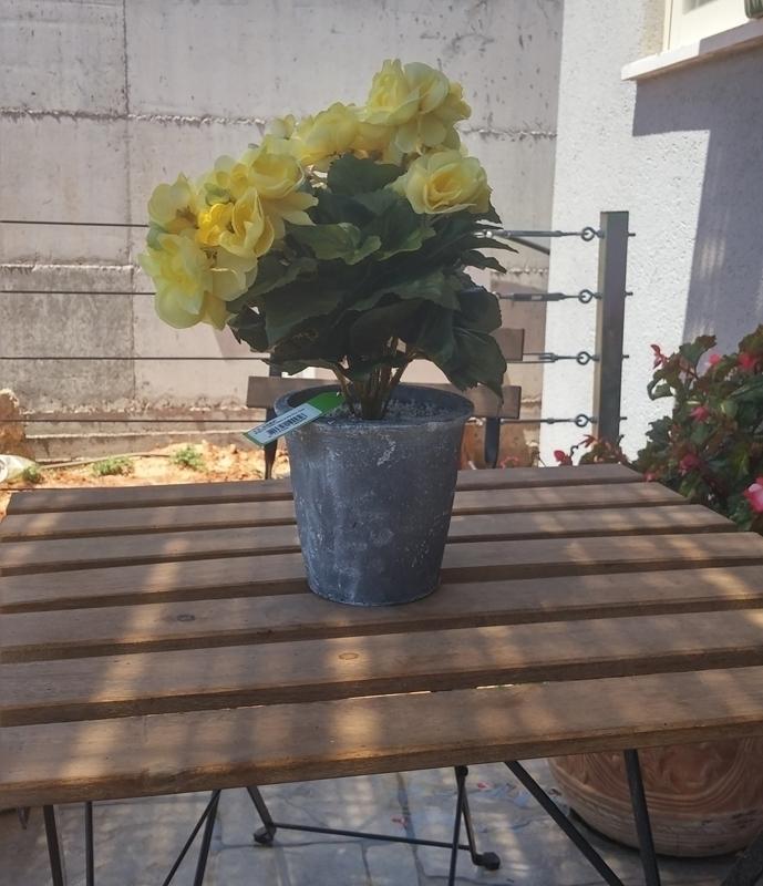 Artificial plants for home garden blue green