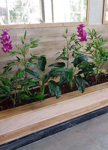 צמחיה מלאכותית לבניין מגורים בחדרה