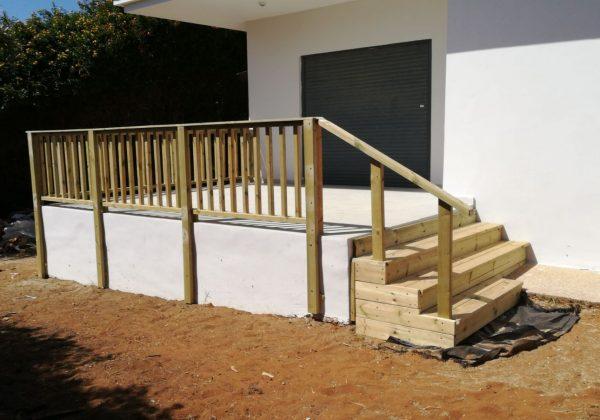 פרויקט השקיה והקמת גדר עץ